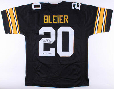 bde32e89d Rocky Bleier Signed Pittsburgh Steelers Jersey Inscribed