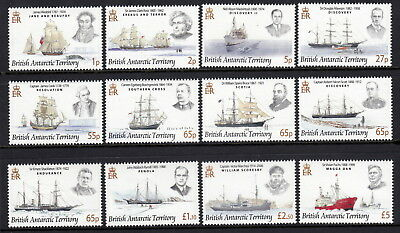 British Antarctic Territory 2008 Explorers and their Ships set & souvenir sheet