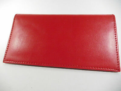 Marshal PU Man-Made Red Leather Budget Checkbook Cover-Card Slot,Insert-156PU-RD
