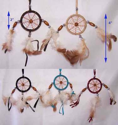 "Hand Made Dream Catchers - Diameter:  2"" 6Pc Lot (NpDc173 ^*)"