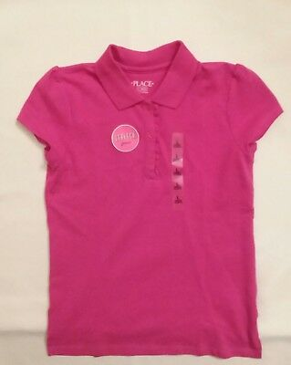 The Children's Place Polo SHIRT Top With Ruffle Short Sleeve New With Tags!!