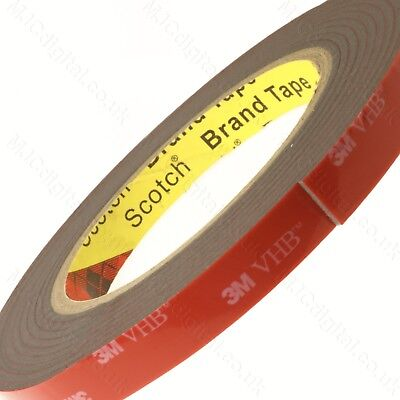 3M™ VHB™ 2 3MM Thick Tape GREY Double Coated Tissue Adhesive EXTREMELY  STRONG