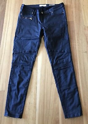 Jeanswest Maternity Black Leather Look Pants Size 14