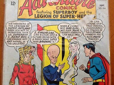 Adventure Comics #324 (DC, 1938 1st Series) Comic Book Featuring Superboy VG