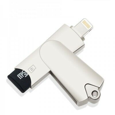 USB Kartenleser für iPhone  6 7 8 X iPad USB Stick OTG 2.0 Lightning NEU Metall