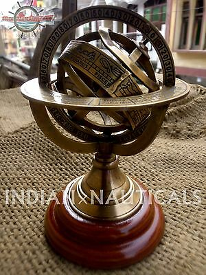 Collectible Nautical Brass Sphere Astrolabe Armillary Globe Decor Vintage Gift
