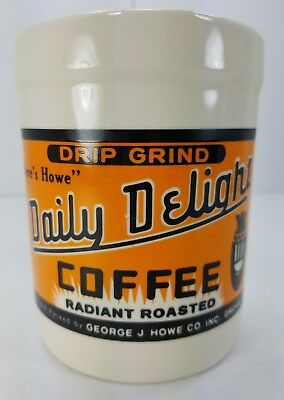 """Yesteryear by Westwood 1995 Drip Grind Daily Delight Coffee Crock (4.5"""" Tall)"""