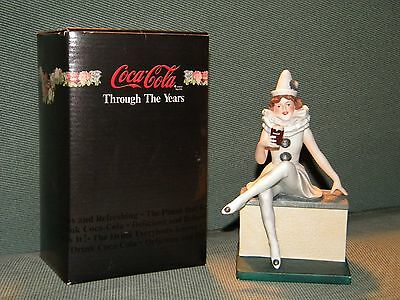 Coca Cola Porcelain Statue Through The Years Tis Folly To Be Thirsty 1986, NEW