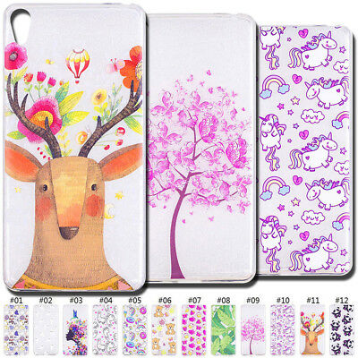 Cute Silicone TPU Case Cover Clear Protective Soft Skin Back For Sony Xperia E5
