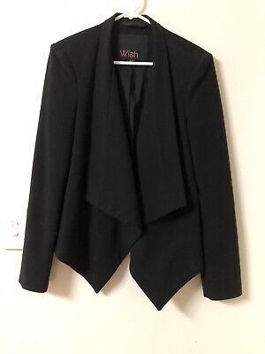 Wish Black Blazer, Size 8