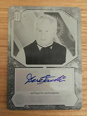 Topps Doctor Who 2015 Black Printing Plate Autograph Derek Jacobi The Master 1/1