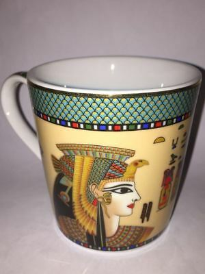 Egyptian Mug by Ambesonne, Profile Portrait of Queen Cleopatra Ancient Cultures
