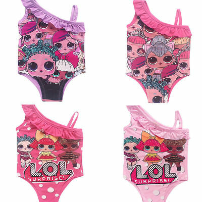 Girls Kids L.O.L Lol Surprise Doll Swimwear Beachwear Bikini Monokini Swimsuit