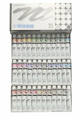 Nicker Watercolors poster color 36 color set 20ml from Japan Free Shipping
