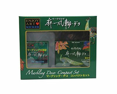 Nicker Acrylic paint marbling Deco compact set 10ml from Japan Free Shipping
