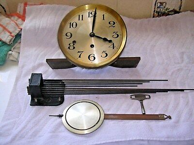 CLOCK  PARTS,MOVEMENt,CHIME, HANDS,PENDULUM ,KEY  1