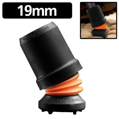 Flexyfoot Walking Stick Ferrule Black 19mm (fits many other canes/sticks too)