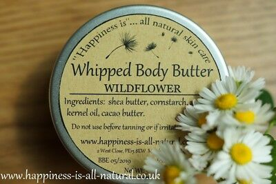 WHIPPED BODY BUTTER WILDFLOWER natural homemade pure shea cacao butter apricot