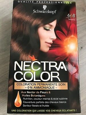 Noisette  Schwarzkopf Nectra Color Coloration couleur cheveux n°668