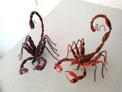 Scorpion Insect Figure Handmade Wire & Beads 7""