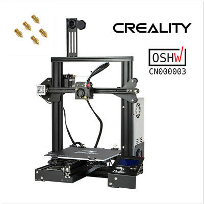 Creality Ender 3 3D Printer 220X220X250MM DC 24V 1.75mm PLA + 5pcs 0.4mm Nozzles