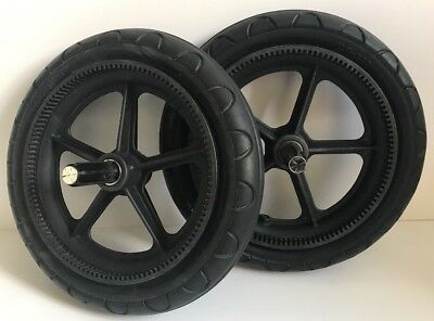 Pair Bugaboo Cameleon 1 & 2 Rear Foam Wheels Fits Gecko And Frog