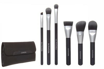 SEPHORA COLLECTION Deluxe Charcoal Antibacterial Brush Set NEW Authent $62 Ret