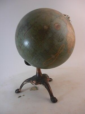 Old Antique Terrestial Globe Johnson As Is for Restoration European Grand Tour