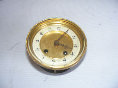 Vintage Clock Parts ( Spares Or Repair ) Clock Face & Glass & Workings
