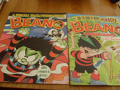 The Beano Comic 2 Issues No 2988 / 2989 1999
