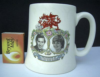 Charles & Lady Diana Marriage Wedding Comemerative Mug Prince Of Wales Spencer