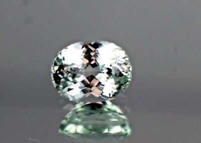 Clean, 6.95ct,Oval Cut, Supreme Aqua color Kunzite from Afghanistan