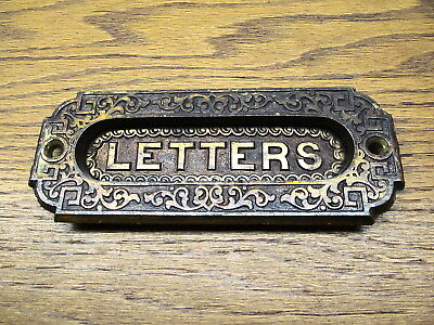 "Old Eastlake ?? Brass ? Bronze ? Letter Door...ornate Detail...nice "" As Found """