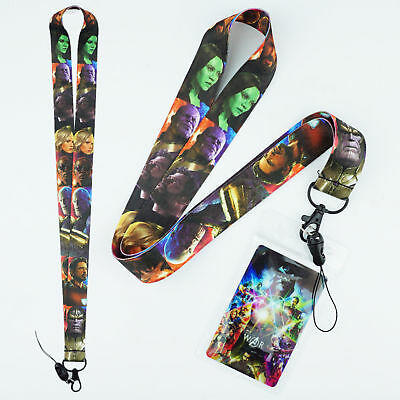 Avengers Infinity War Lanyard Neck Strap Cell Phone Rope KeyChain Marvel Thanos