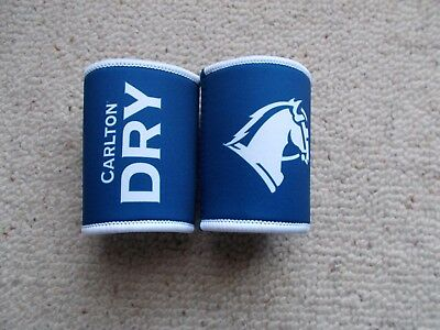 CARLTON DRY   STUBBY HOLDERS x 2 oFF  - NEW