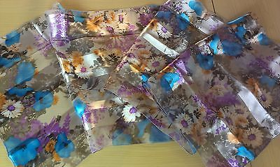 BNWT-Light Weight-Abstract Animal Print  Satin//Chiffon Scarves-155 x 35cm