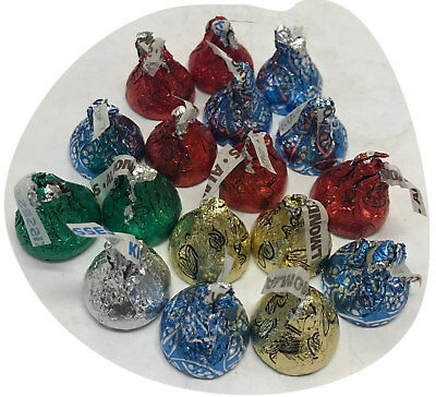 75 x Hershey's Kisses Milk Chocolate Silver Colour Pieces Hersheys Party Favors