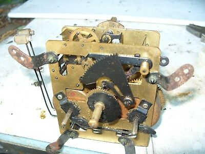 Clock Parts Side Twin Striking  Movement  Springs Ok Working