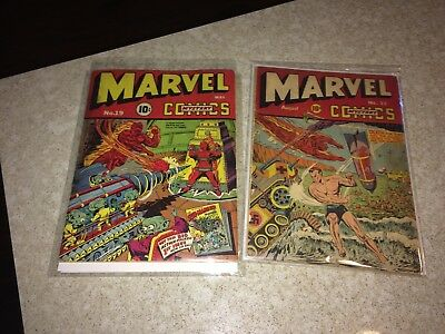 Marvel Mystery Comics #19 and #22 set - both lower grade rare, fun books to own.