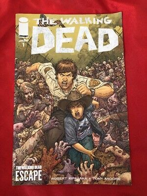 SDCC The Walking Dead #1 Escape Variant Exclusive Comic Book Image Kirkman Moore