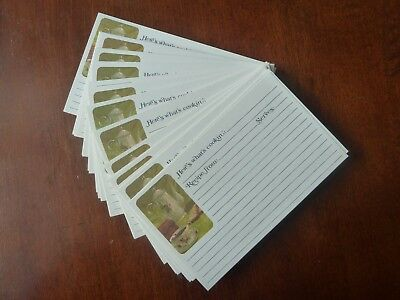 """Vintage 1982 LOT of 59 """"CURRENT"""" 3x5 Recipe Cards Coffee Break Morning Beverage"""