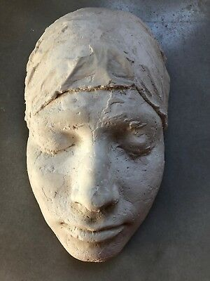 Victorian Plaster Death Mask, Life Mask, Medical Funeral Science Casting