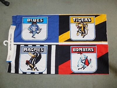 Vfl 1976 Sample Of Pillow Cases ( Set Of 4) New