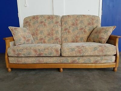 Ercol 3 Seater Sofa Settee Suite Wooden Frame High Quality Couch Delivery Av