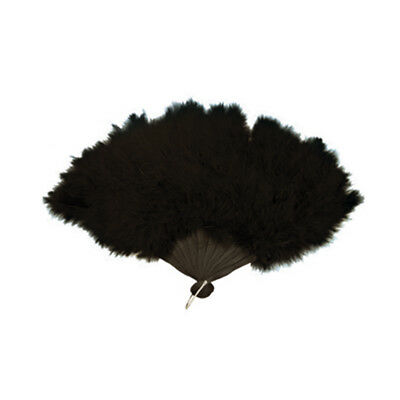 Women Feather Hand Fan in Different Colours - Burlesque Fancy Dress Accessory