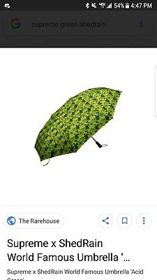 Supreme / ShedRain World Famous Umbrella Green NEW 100% Authentic Limited