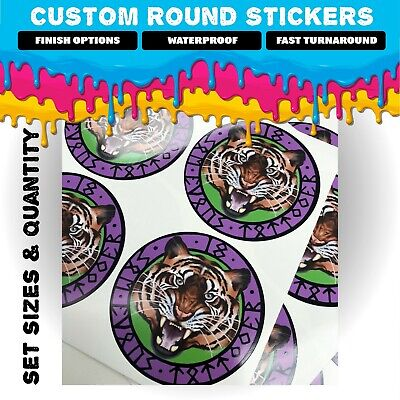 LOGO Printed Round Stickers - Custom Logo labels - postage labels - Personalised