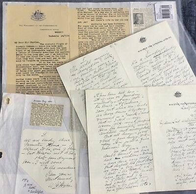 Australia History - Billy Hughes (Prime Minister) Letters x 2 - 1926 & 1938.
