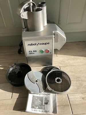 Commercial Robot Coupe CL50 Ultra food processor chopper slicer & blades INC VAT