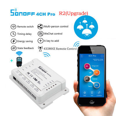 SONOFF 4CH Pro R2 Wireless WIFI Switch 4-gangTurn on/off APP Control Home Device